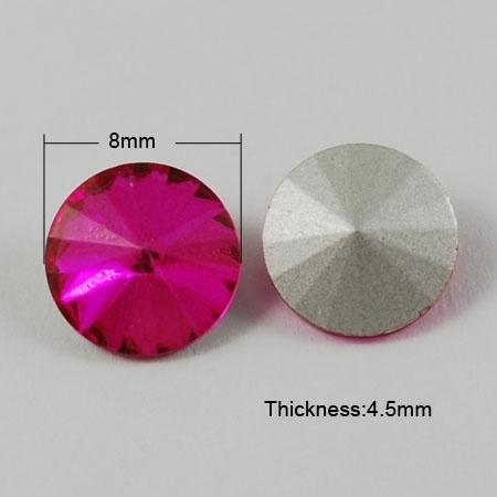 5 x Puntsteen Preciosa voor Puntsteen SS39 Setting c.a. 7/8mm Fuchsia Roze
