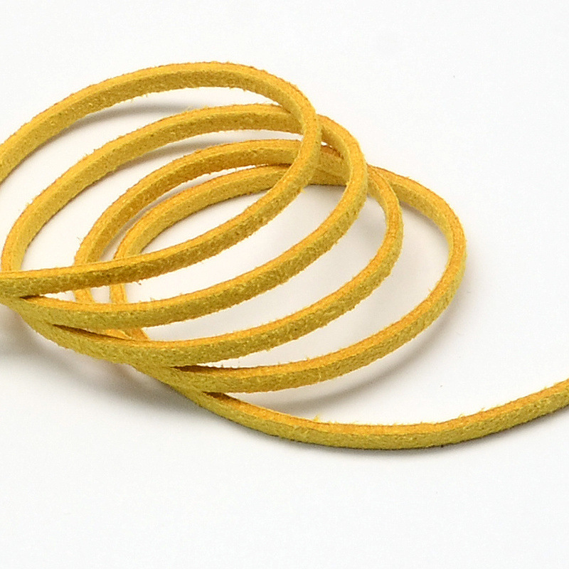 Faux suède veter,  geel-mais, 1 meter x 3mm