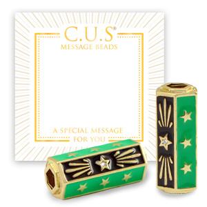 1 x C.U.S® sieraden message beads stars Goud