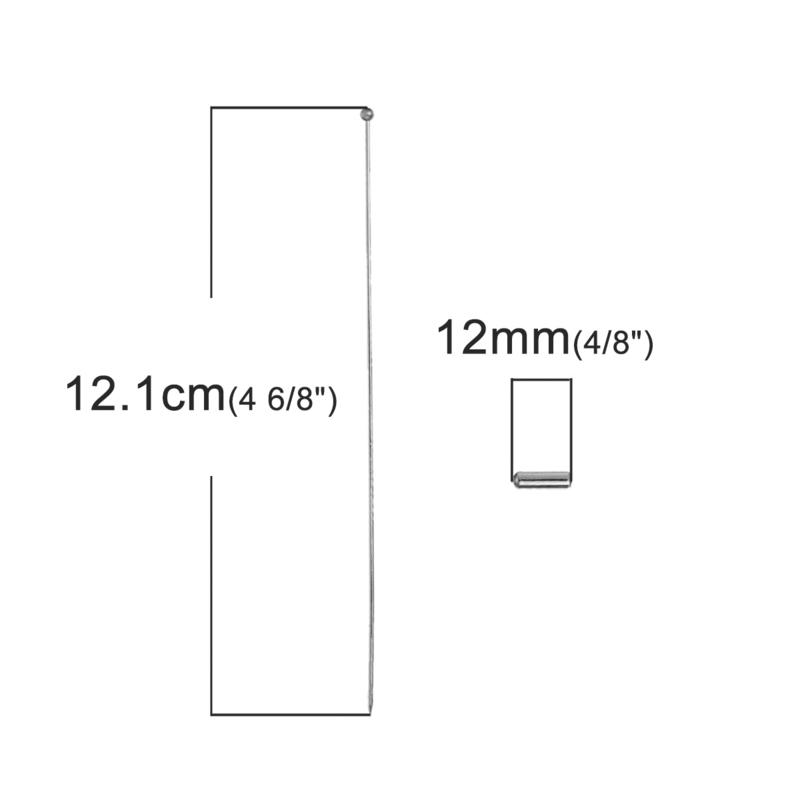 Hoedenspeld of hoedespeld met dopje ca 121x  30mm dopje: 120 x 40mm