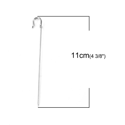 Metalen broche pin hoedenspeld  100 x 1mm