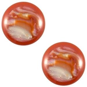 3 x Polaris cabochon 20 mm Waikiki shiny Pearl shine Red ochre