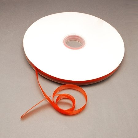 5 meter Organza lint 10mm breed per meter, Orange Red