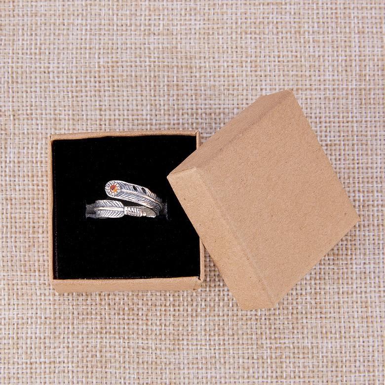 6 luxe cadeaudoosjes voor bijvoorbeeld ringen en armbandjes 70 x 70 x 35mm bruin naturel (pakketpost)