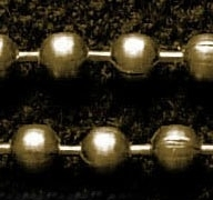 50 cm Ball Chain ketting dikte 2 mm geel koper kleur