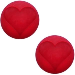 3 x Cabochon Polaris hart matt 15 mm True red