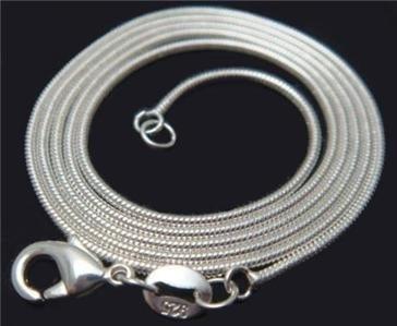 925 verzilverde snake ketting 1mm verschillende lengtes