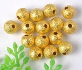 10 stuks Stardust kralen goudkleur 10mm