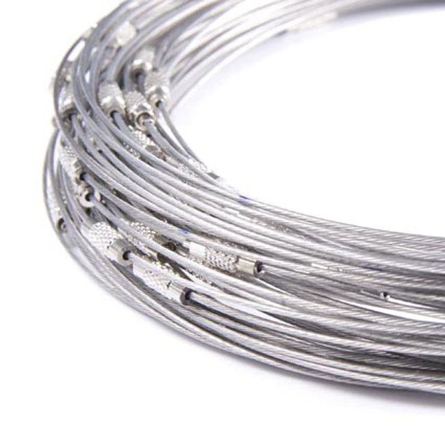 Spang lengte 46cm zilverkleur met schroefsluiting
