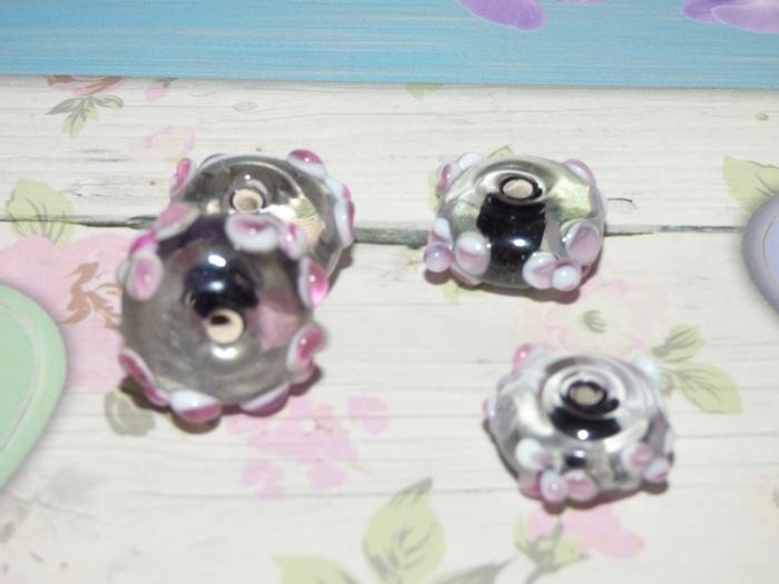 5 x High Quality Glass Hand Made Bead 122 afm. ca. 11 x 18mm