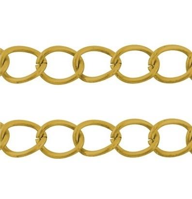 Jasseron 6 x 3 x 0,7mm per 50 cm goudkleur