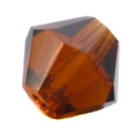 30 x Preciosa Kristal Bicone kraal 4 mm  Smoke Topaz