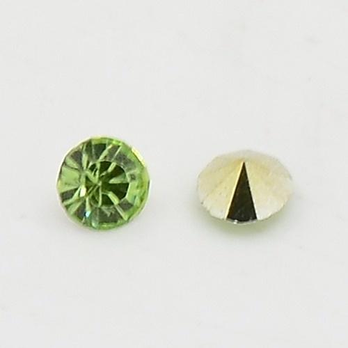 20 stuks Puntsteen Resin kunsthars SS12 c.a. 3,5mm Licht Groen