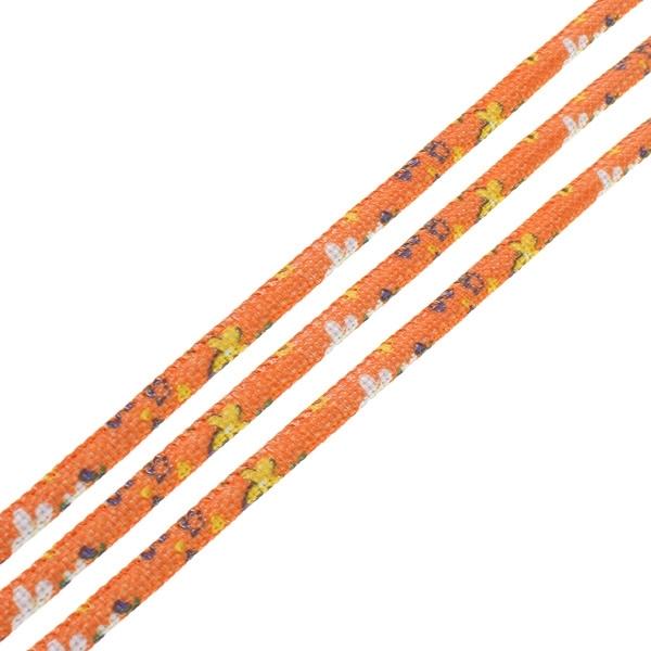 20 cm Trendy gestikt koord  7 x 5mm orange