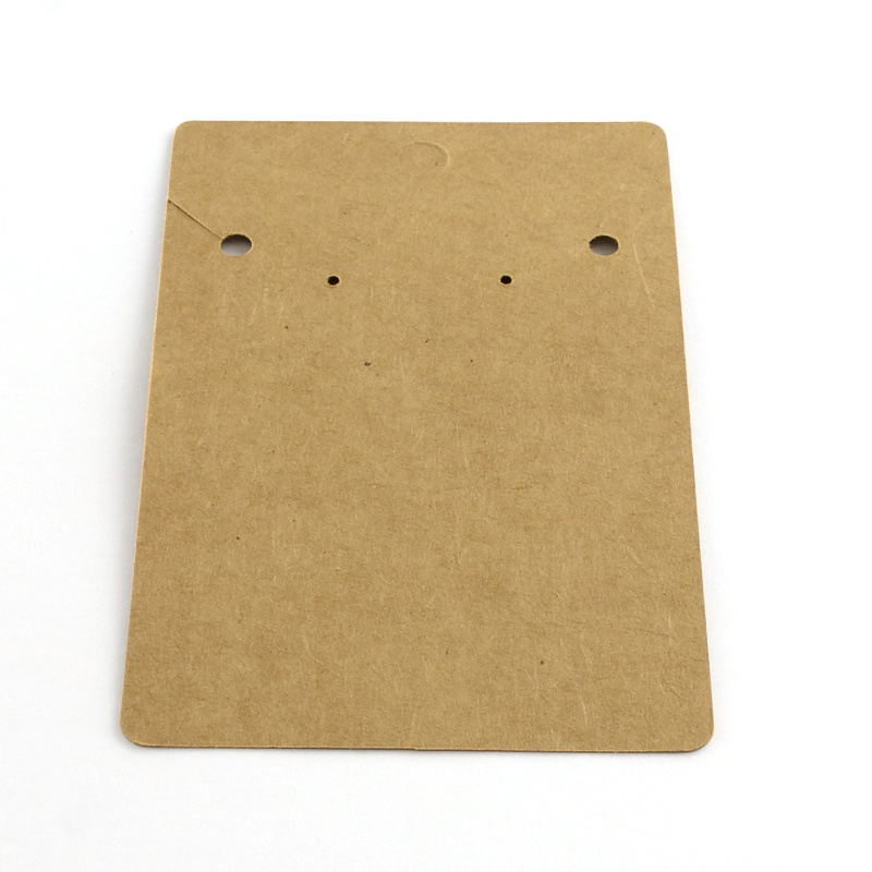 50 kartonnen kaartjes bruin 100 x 65 x 0,5mm