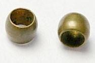 100 stuks knijpkralen c.a. 2mm geel koper gat 1mm