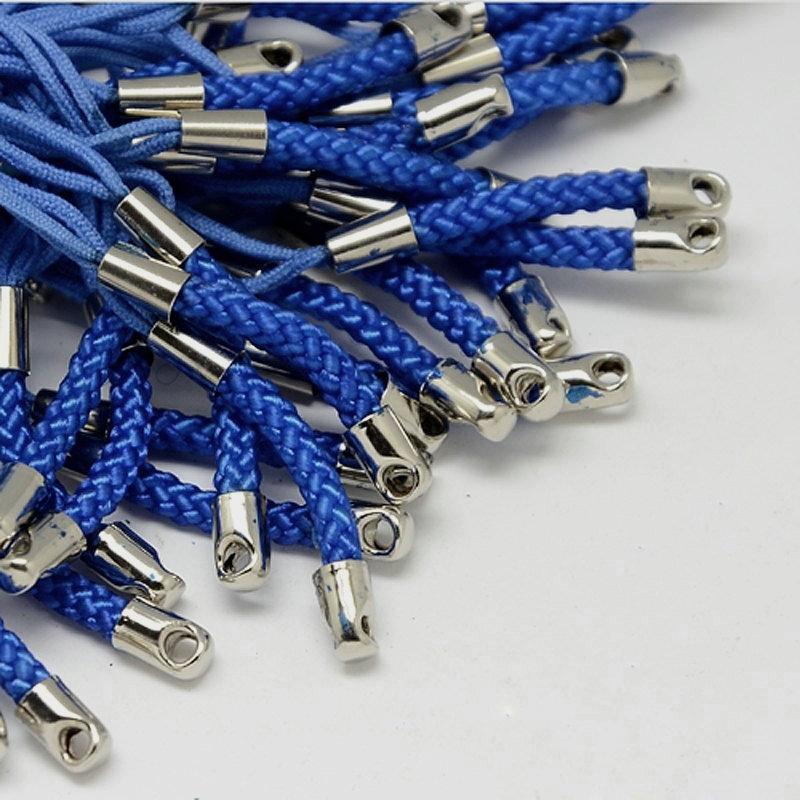 25 stuks koortjes voor aan een telefoon o.i.d donker blauw 75mm