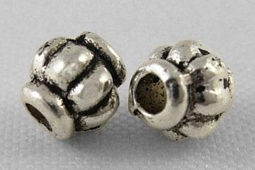 20 stuks tibetaans zilveren kraaltjes 4 x 4mm gat: 1mm