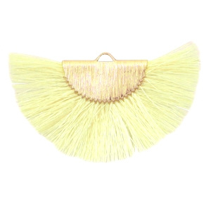 Kwastjes hanger Gold-light yellow