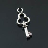 4 x Tibetaans zilveren sleutel 6,5 x 16mm