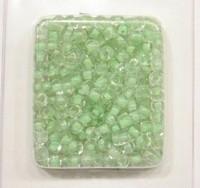 Rocailles Transparant met lime kern  4,5 mm (op = op!)