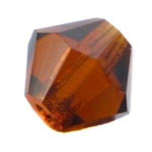 20 x Preciosa Kristal Bicone kraal 6 mm Smoke Topaz