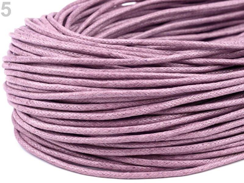 10 meter waxkoord 1,5mm dik kleur: Lilac