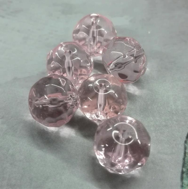 10x facetkraal roze 10x8mm Gat: 1mm