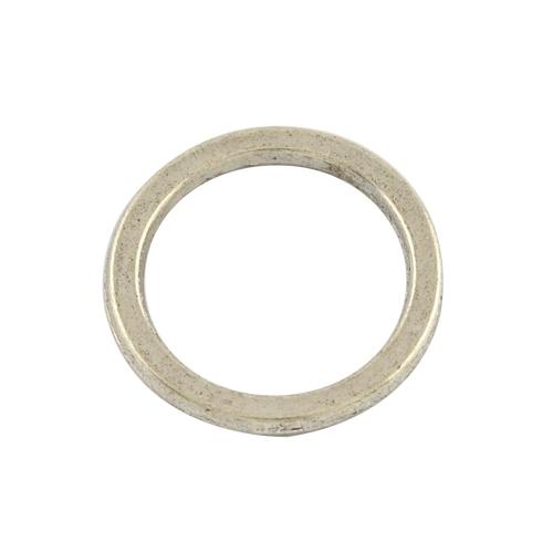 10 stuks Tibetaans zilveren gesloten ringen 15x 1,5mm