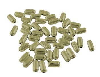 100 stuks leuke metalen tussenzetsel kralen 4,8 x 2,4mm Gat: 0,5mm geel koper kleur