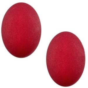 3 x Prachtige Cabochon Polaris ovaal matt 10 x 13 mm Ruby purple