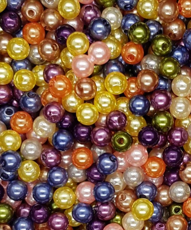 25 stuks 6mm assortiment  mix mooie acryl parels