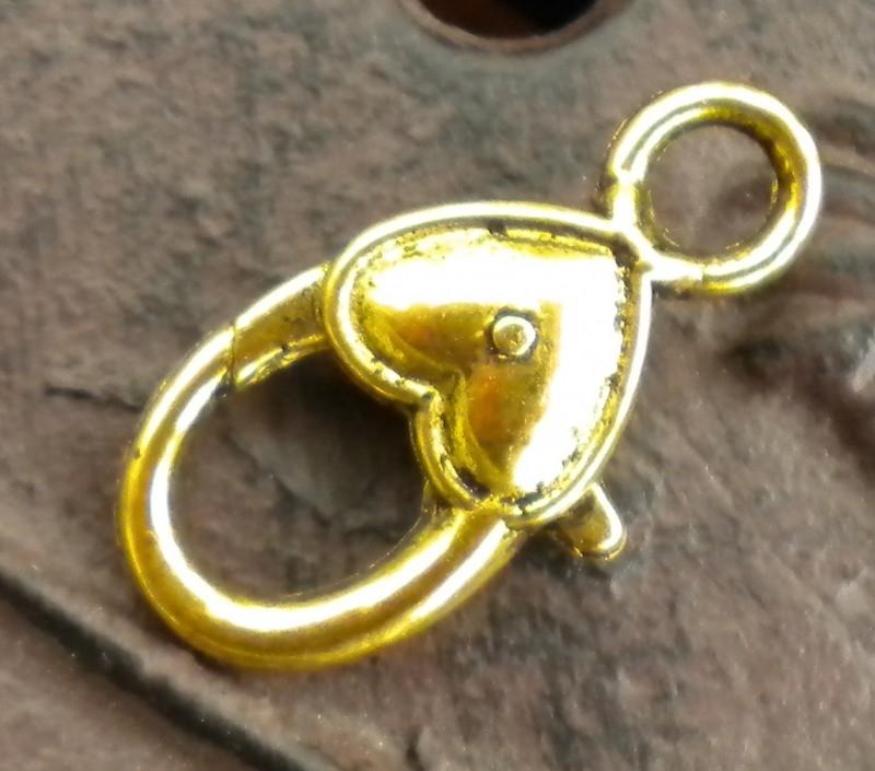 Tibetaans zilveren sluiting erg mooi! 27 x 14 x 6mm Gat 3,5mm goudkleur (op is op!)