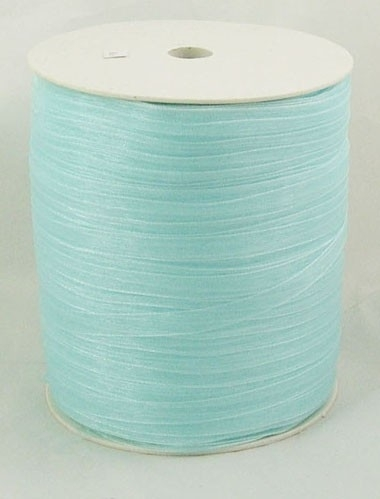 1 meter organza lint 6mm light cyan