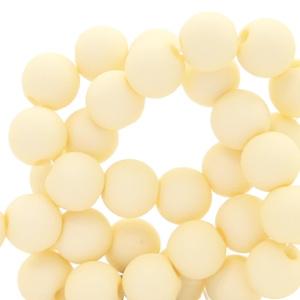15 stuks 10 mm acryl kralen Vanilla yellow