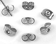 20 stuks oorbel stoppers 5 x 4 x 3mm vlinders platinum