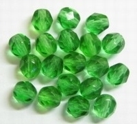 20 Stuks Glaskraal facet groen twodrops 4 mm