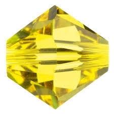 10 x Preciosa Kristal Bicone kraal 8mm Citrine