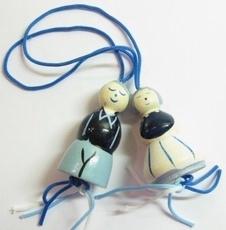 Gelukspoppetje ouder echtpaar  35 mm