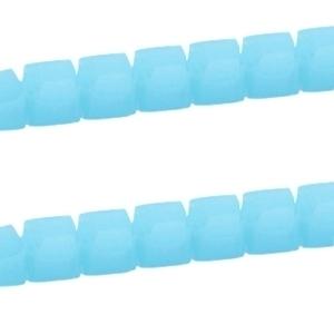 20 stuks Top Facet kralen vierkant 2mm Aquamarine blue