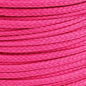 1 meter sieradenkoord c.a. 5 x 3mm kleur Dark Fuchsia Pink