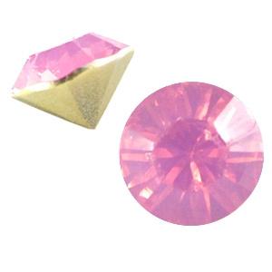 15  x BQ puntsteen SS29 French rose opal c.a. 6,2mm