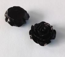 2 x Plakroosje plakvlak 16 mm  zwart