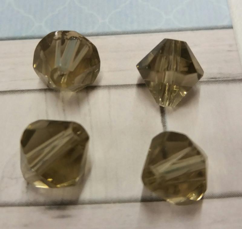 10x preciosa kristal bicone olive 8 mm Gat: 1,5 mm