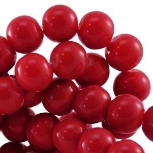 15 stuks Keramische Glaskralen 8mm Warm donker rood