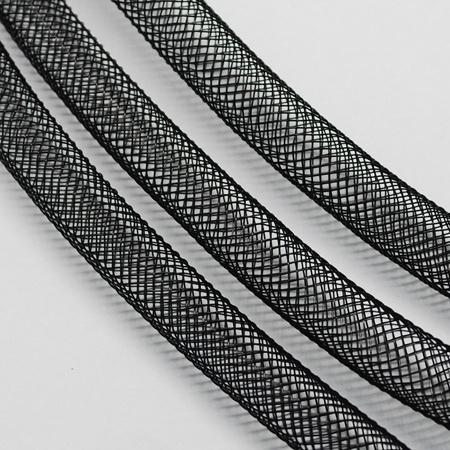 1 meter net slang 8mm zwart