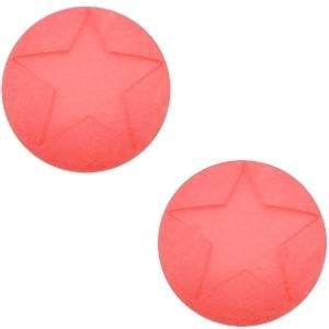 3 x  Polaris cabochon ster matt 20 mm Paparacha roze