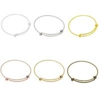 Super leuke verstelbare basis armband om bedels aan te hangen diameter c.a. 55mm totale lengte c.a 18cm goud