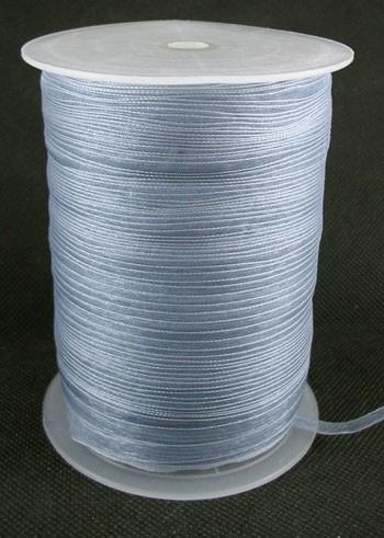 1 meter organza lint 6mm gray