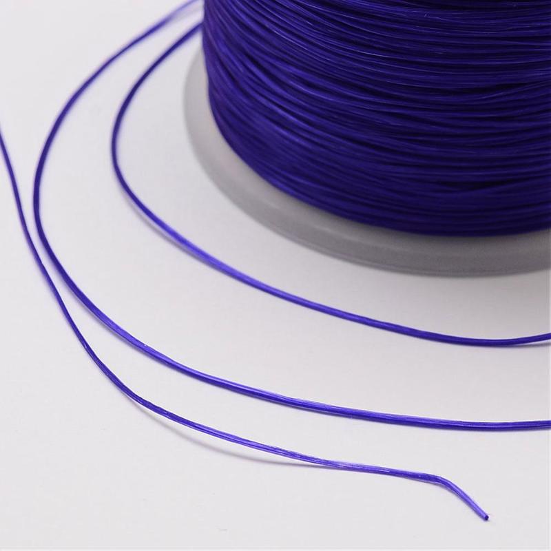 5 meter rond elastisch draad 0,2mm mauve